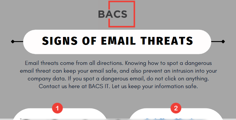 Signs of Email Threats You Need to Know BACS IT